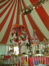 Pole decoration in 50' x 30' marquee